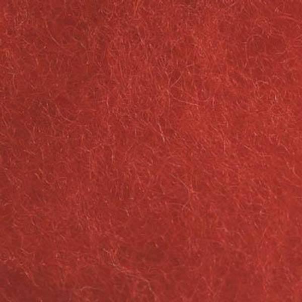 Bilde av Kardet ull, skarp rød 100g