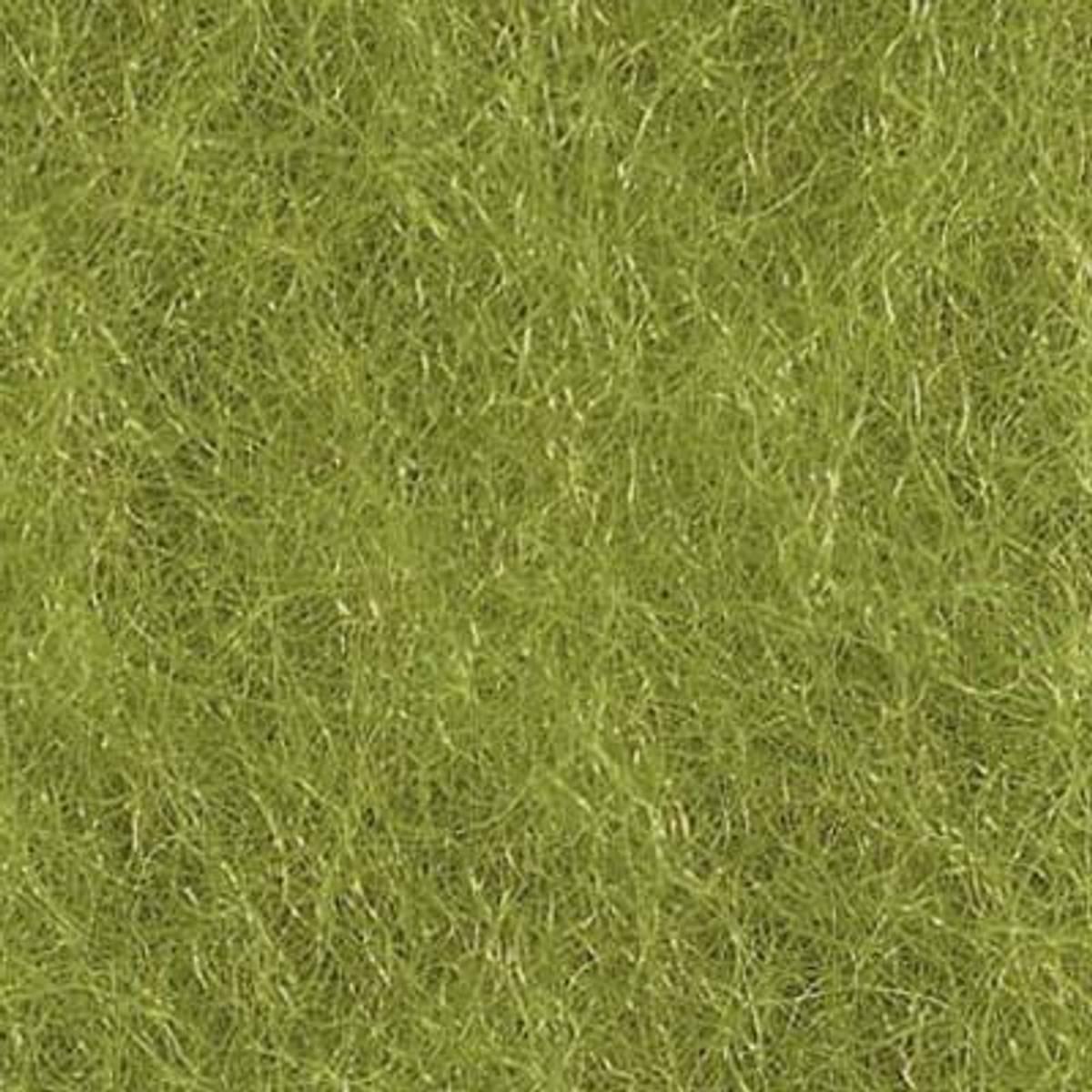 Kardet ull, gressgrønn 100g