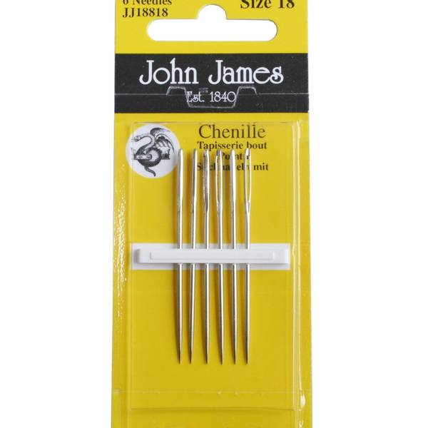 Bilde av Chenillenåler John James 24 med spiss 6 stk